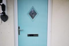 Duck Egg Blue Composite Door - Llandarcy, Neath