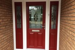 Elegance Style Composite Door with Side Screens