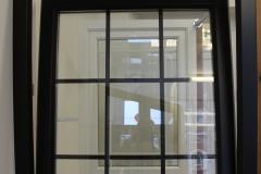 black tilt & turn uPVC window