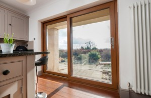 Monorail sliding uPVC Large Pane door double glazed