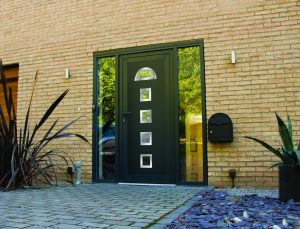 uPVC Residential Door Black Modern