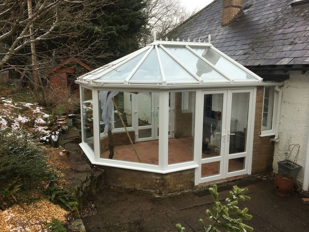 Builth Wells, Powys uPVc White Conservatory After 3