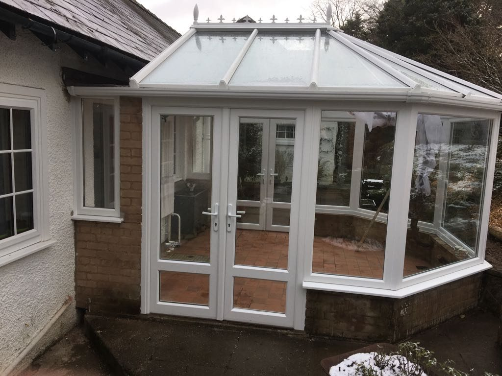 Builth Wells, Powys uPVc White Conservatory After 5