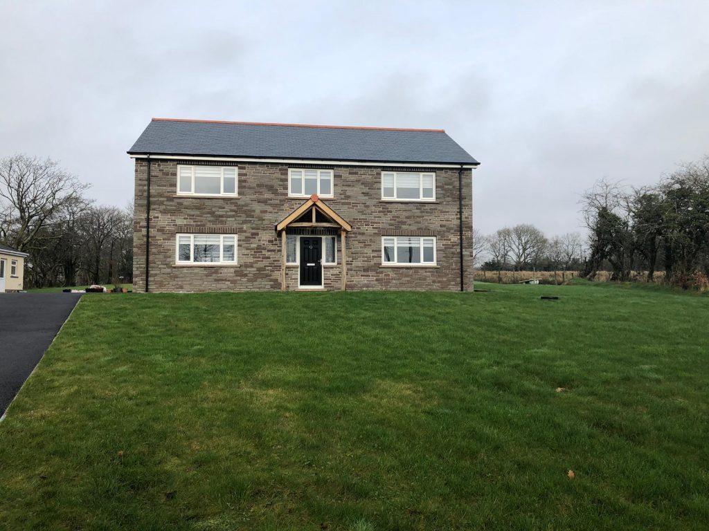 Capel Hendre, Ammanford, Carmarthenshire Black composite door & uPVC windows