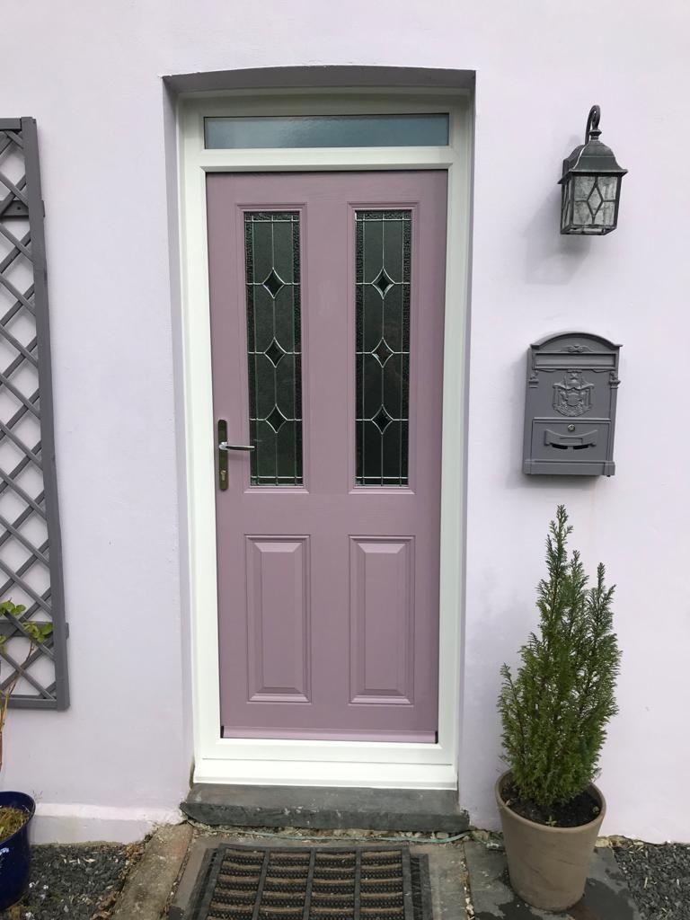 Esteem Composite Door in Pastel Violet with Palma Glass