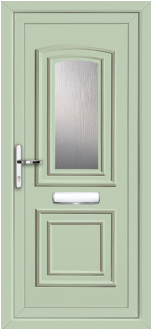Balmoral One Classic Chartwell Green uPVC door panel