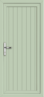 Cottage Style Chartwell Green uPVC door panel